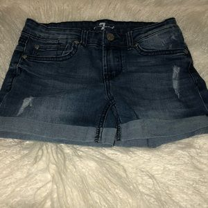 7 for all man kind shorts size 10/12 girls